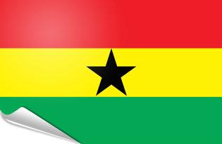 Adhesive flag Ghana