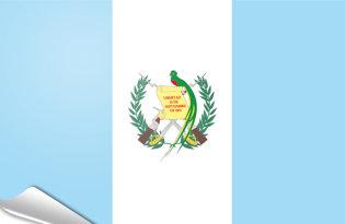 Adhesive flag Guatemala