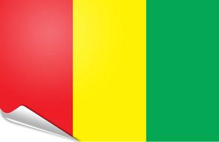Adhesive flag Guinea