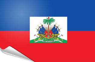 Adhesive flag Haiti State