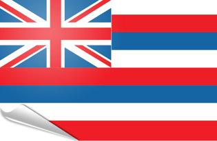 Adhesive flag Hawaii