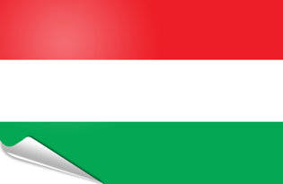 Adhesive flag Hungary