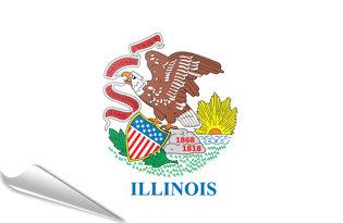 Adhesive flag Illinois