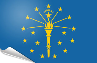 Adhesive flag Indiana