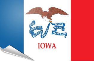 Adhesive flag Iowa