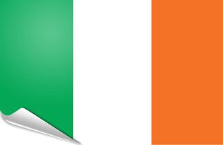 Adhesive flag Ireland