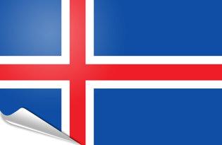Adhesive flag Iceland