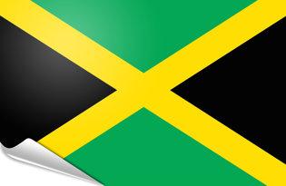 Adhesive flag Jamaica