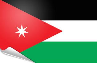 Adhesive flag Jordan