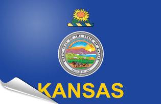 Adhesive flag Kansas