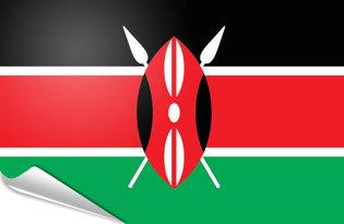 Adhesive flag Kenya