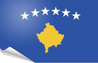 Adhesive flag Kosovo