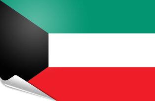 Adhesive flag Kuwait