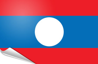 Adhesive flag Laos