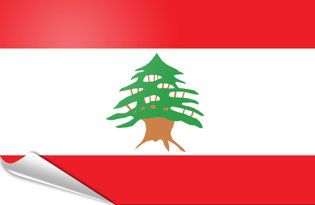 Adhesive flag Lebanon