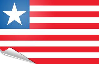 Adhesive flag Liberia