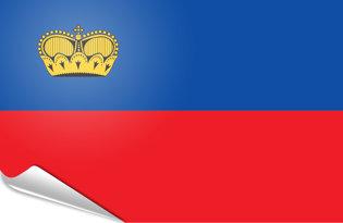 Adhesive flag Liechtenstein