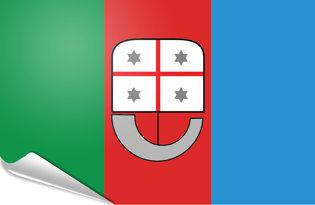 Adhesive flag Liguria