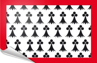Adhesive flag Limousin