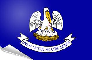 Adhesive flag Louisiana 2006 - 2010