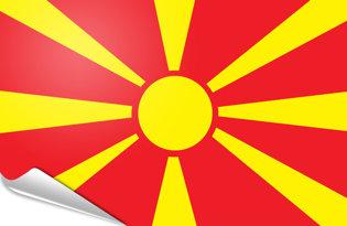 Adhesive flag Macedonia