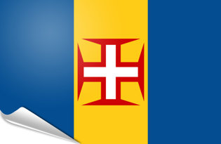 Adhesive flag Madeira