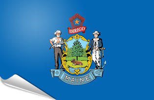 Adhesive flag Maine