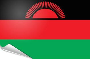 Adhesive flag Malawi