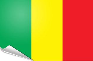 Adhesive flag Mali