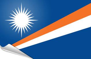 Adhesive flag Marshall Islands