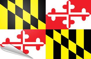 Adhesive flag Maryland