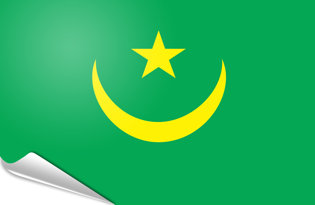 Adhesive flag Mauritania