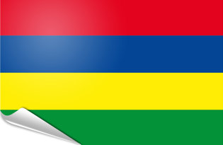 Adhesive flag Mauritius