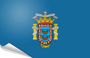 Adhesive flag Melilla