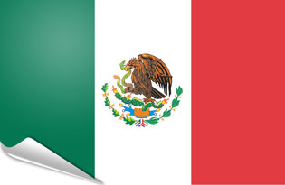Adhesive flag Mexico