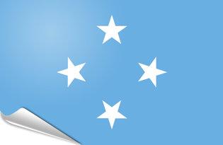 Adhesive flag Micronesia