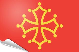 Adhesive flag Midi-Pyrenees