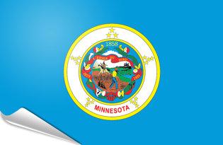Adhesive flag Minnesota