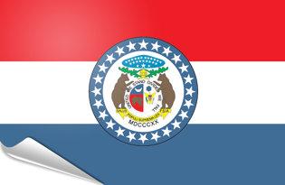 Adhesive flag Missouri