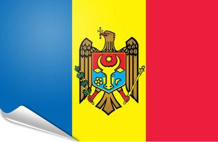 Adhesive flag Moldova