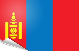 Adhesive flag Mongolia