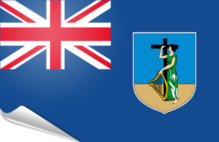 Adhesive flag Montserrat