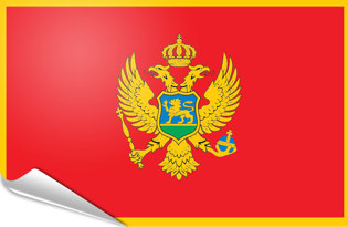 Adhesive flag Montenegro