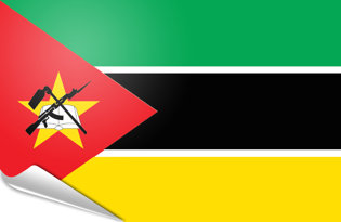 Adhesive flag Mozambique