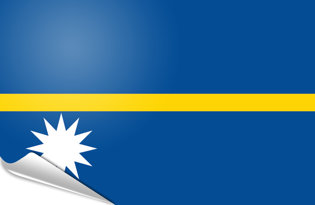 Adhesive flag Nauru