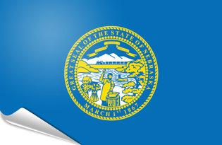 Adhesive flag Nebraska