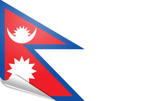 Adhesive flag Nepal