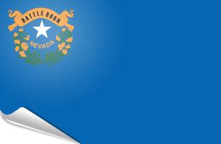 Adhesive flag Nevada