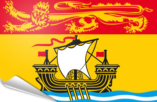 Adhesive flag New Brunswick