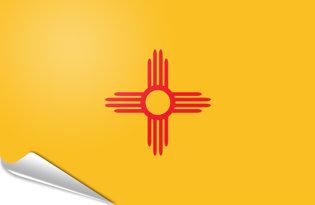 Adhesive flag New Mexico